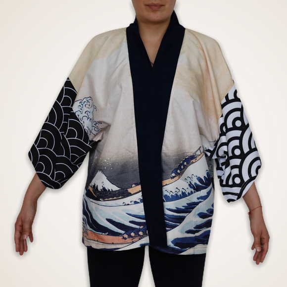 Modern Happi Jacket - The Great Wave - KUNST & EATS