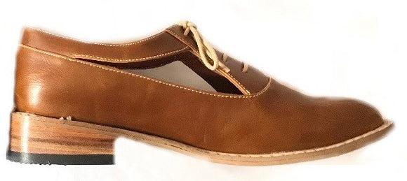 Talleras Brown Bostonian Shoes - KUNST.MX