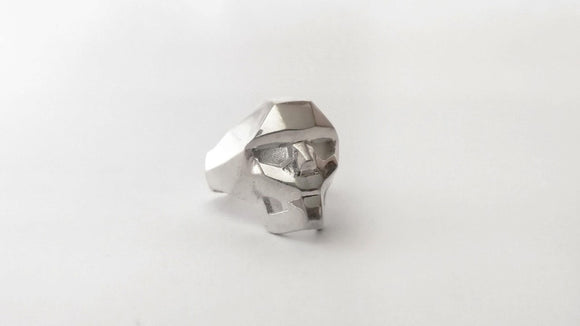 Skull Ring - .925 Sterling Silver - KUNST & EATS