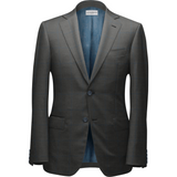 Gray and Turqoise Blue Plaid Suit - KUNST & EATS