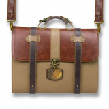 Cassiopea Executive Portfolio Bag - Honey and Sand - KUNST.MX