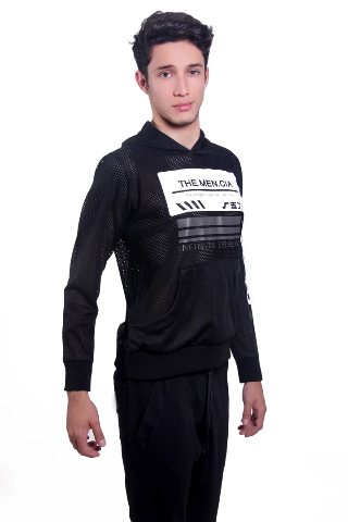 Black Sporting Sweatshirt - KUNST.MX
