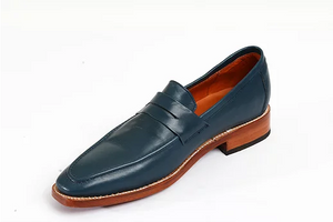 Hugo Blue Loafer Shoes - KUNST