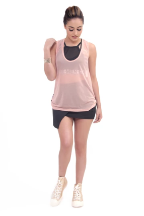 Transparent Tank Top - Melon Pink - KUNST.MX