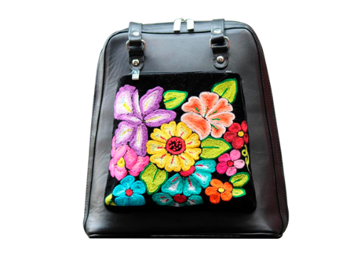 Colibri Juchitan Backpack - Black - KUNST.MX
