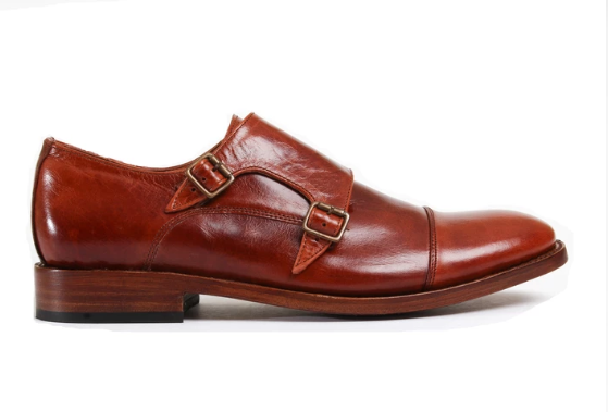 Enzo Shedron Monk Strapped Shoes