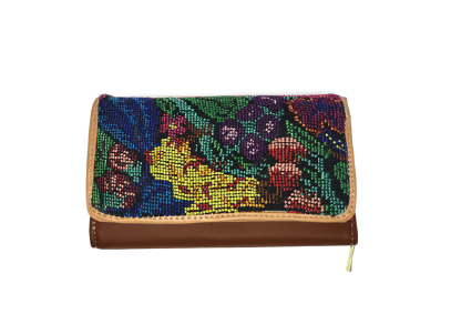 Nikte-Ha - Ethnic Embroidery Wallet - KUNST.MX