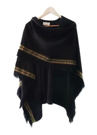 Black & Yellow Poncho - KUNST & EATS