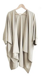 White Ensemble Poncho - KUNST & EATS