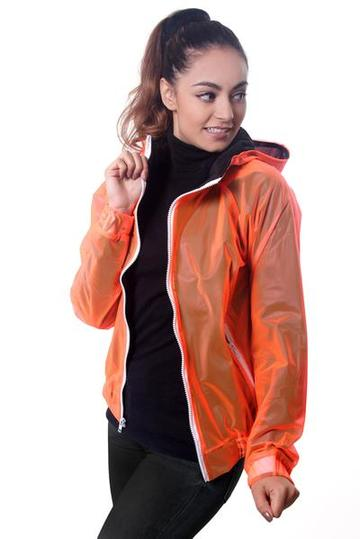 Neon Orange Bomber Jacket - KUNST.MX