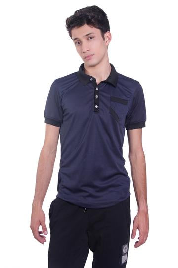 Dry Fit Blue Polo - KUNST & EATS