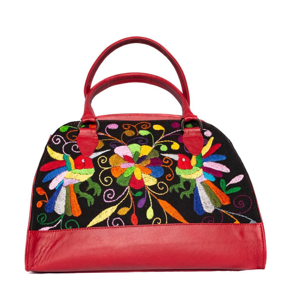 Nikte Tenango Red Large Handbag - KUNST.MX