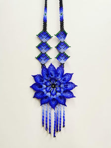 """Xoch"" - Chaquira Flower Necklace - KUNST & EATS"