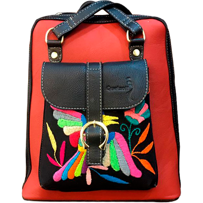 Colibrí Tenango Backpack - Red - KUNST.MX