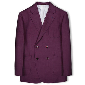 Bespoke Purple Blazer - KUNST.MX