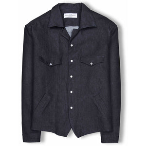 The Denim Bullskull Overshirt - KUNST