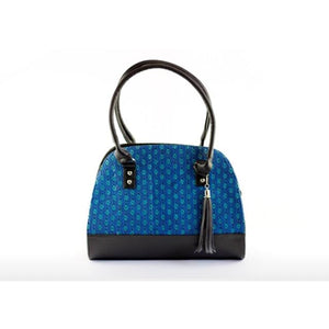 Nikte-Ha Handbag - Black & Blue - KUNST & EATS