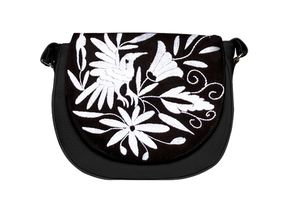Tenango Black Artisanal Bag - KUNST.MX