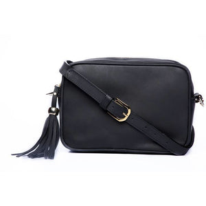 Black Leather Mathilda Basic Bag - KUNST & EATS