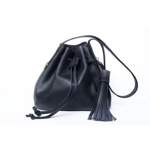 Black Medium Pouch Bag - KUNST & EATS
