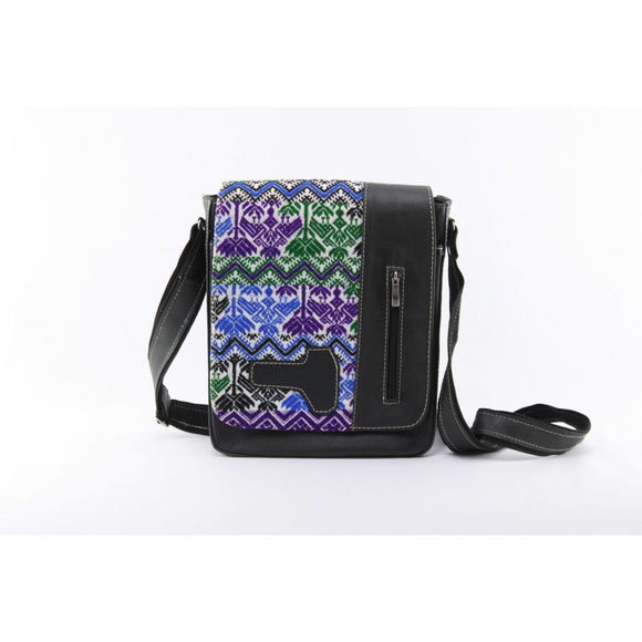 Artisanal Black Shoulder Bag - KUNST.MX