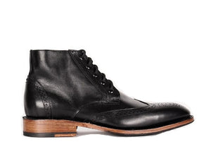 Xavier - Bostonian Wingtip Dress Boots - KUNST & EATS