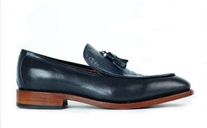 Monaco Blue Loafer Shoes - KUNST.MX