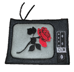 """Television Rose"" Denim Patch - KUNST.MX"