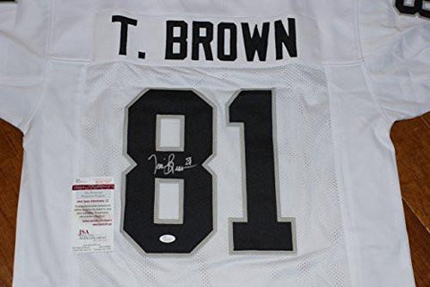 Autographed Tim Brown Jersey - White