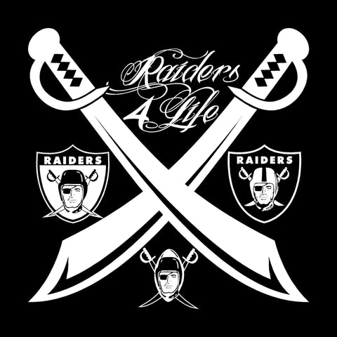 Team of the Decades Raiders 4 Life Decal/Window Sticker
