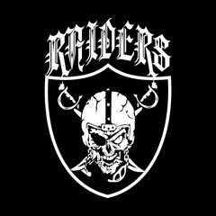 Skull & Shield Raiders 4 Life Decal/Window Sticker