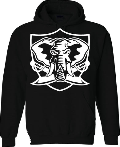Oakland A's Elephant Shield - Raiders 4 Life Pullover Hoodie