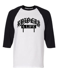 Raiders 4 Life Car Club - Baseball 3/4 Sleeve R4L Tee