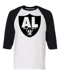 RIP Al Davis Shield - Baseball 3/4 Sleeve R4L Tee