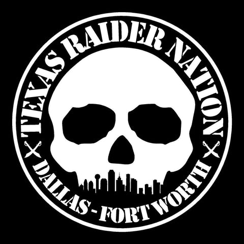 DFW Raiders 4 Life Booster Club Window Sticker/Decal
