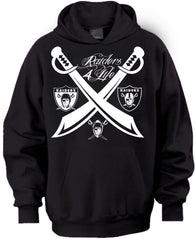 Team of the Decades Raiders 4 Life Pullover Hoodie