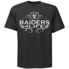 Raiders 4 Life Logo Tee Shirt