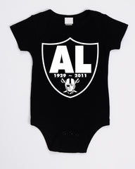 RIP Al Davis Shield - Raiders 4 Life Kids Shirt or Onesie