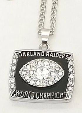 1976 Oakland Raiders Super Bowl XI Ring Necklace