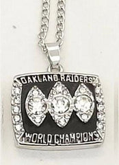 1983 Oakland Raiders Super Bowl XVIII Ring Necklace