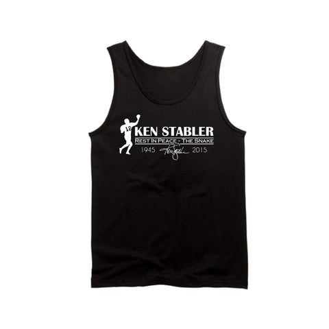 "RIP Ken ""the Snake"" Stabler - Raiders 4 Life Tank Top"