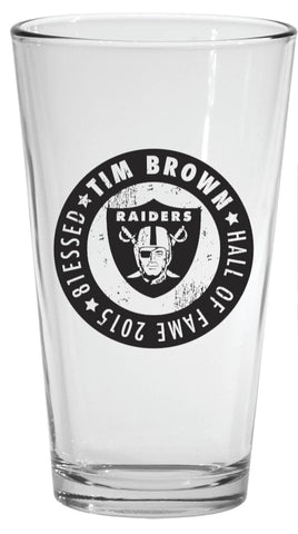 Tim Brown 81essed HOF 2015 Pint Glass