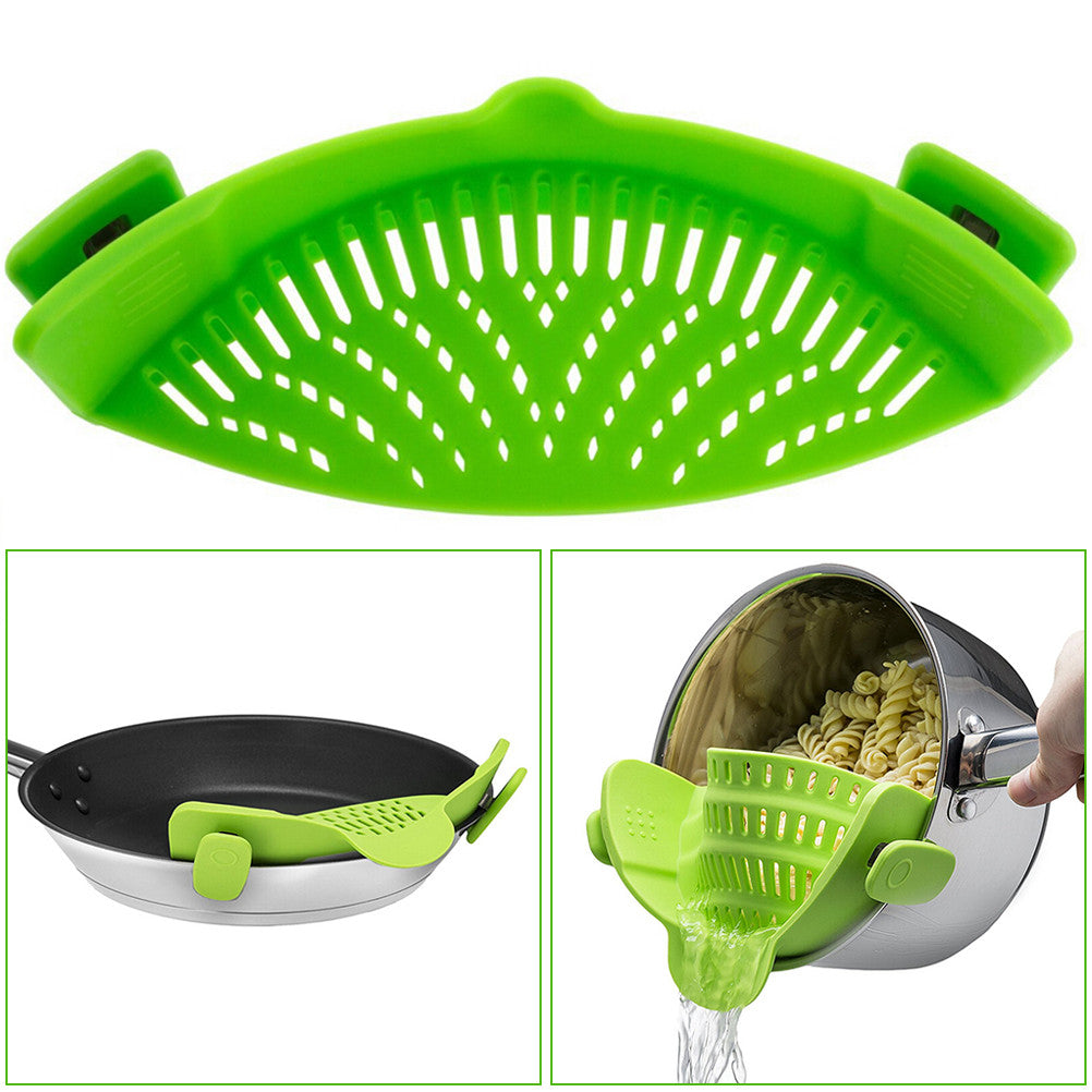 Silicone Strainer with 2 Clips