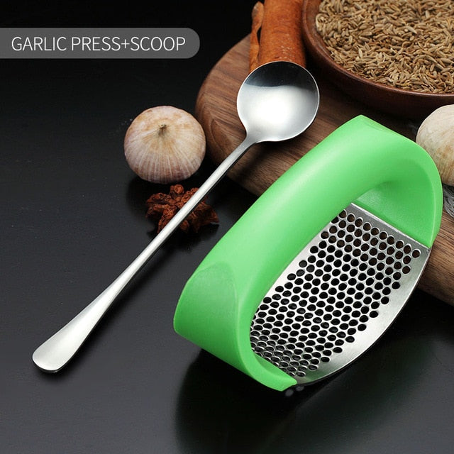 Stainless Steel Manual Garlic Press
