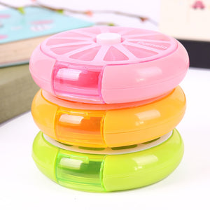 Weekly 7 Compartments Pill Box Click