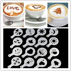 16Pcs/Set Fancy Coffee Printing Tools