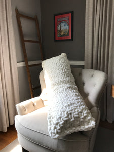 Chunky Knit Ivory Body Pillow