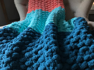 Colorful Chunky Knit Blanket