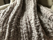 Load image into Gallery viewer, Light Gray Chunky Knit Blanket - Hands On For Homemade