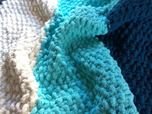 Load image into Gallery viewer, Chunky Teal Ombré Knit Throw